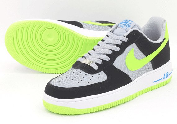 Nike Air Force 1 Low Black Grey Volt