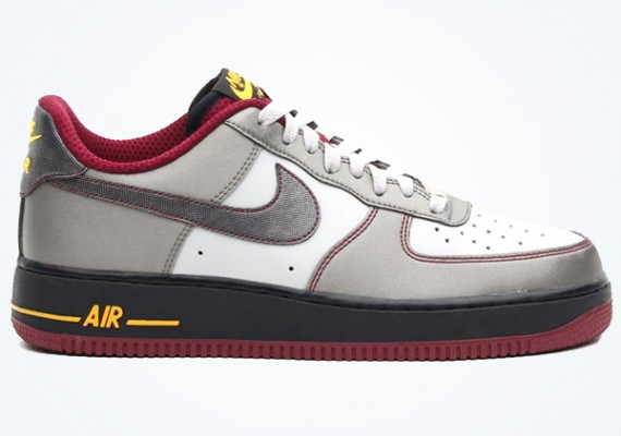 Nike Air Force 1 Low Dusty Grey Metallic Pewter Cherrywood Red