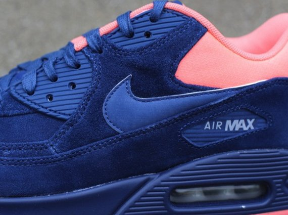 best loved be17b 75bf3 Nike Air Max 90 Premium – Brave Blue Atomic Pink Now Available