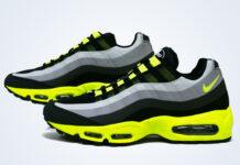 Nike Air Max 95 No Sew Black Volt Dark Charcoal Midnight Fog