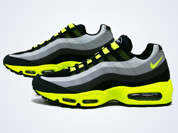 another chance e5ec7 3ce98 Nike Air Max 95 No Sew – Black – Volt – Dark Charcoal ...