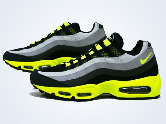 Nike Air Max 95 No Sew Black Volt Dark Charcoal Midnight Fog