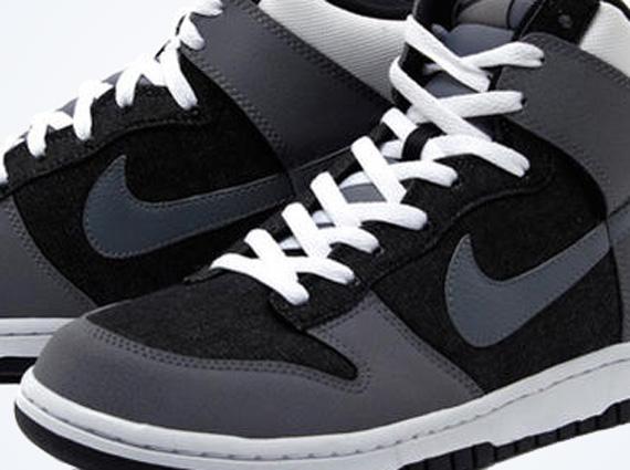 Nike Dunk High Grey Black White