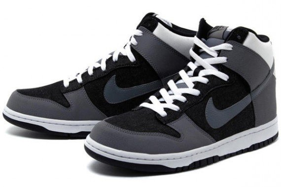 Nike Dunk High Grey Black White