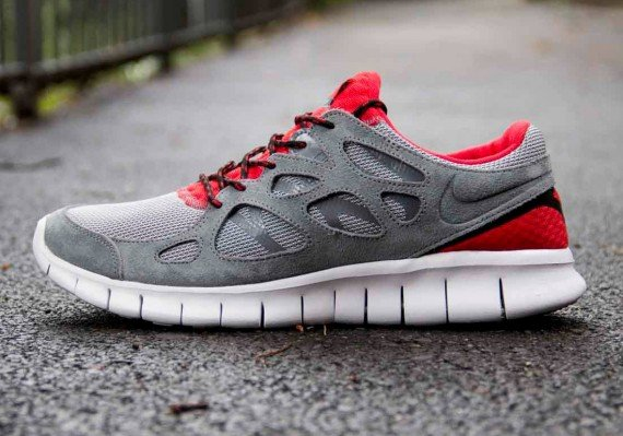 Nike Free Run 2 Red Black White