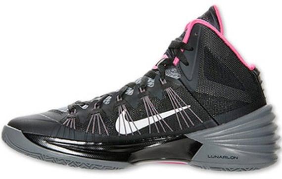Nike Hyperdunk 2013 Black Grey Pink