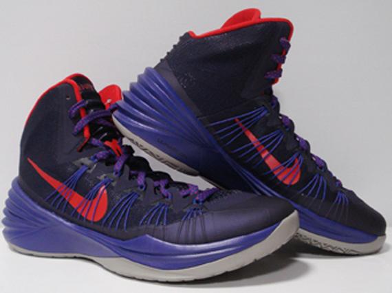 Nike Hyperdunk 2013 Purple Red Grey