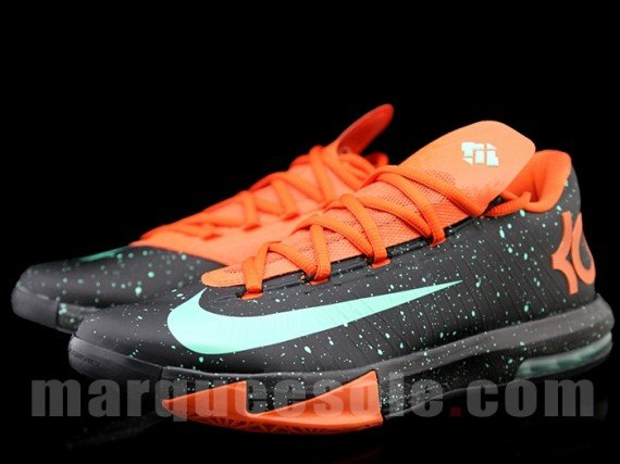 Nike KD 6 Black Urban Orange Green Glow Release Date