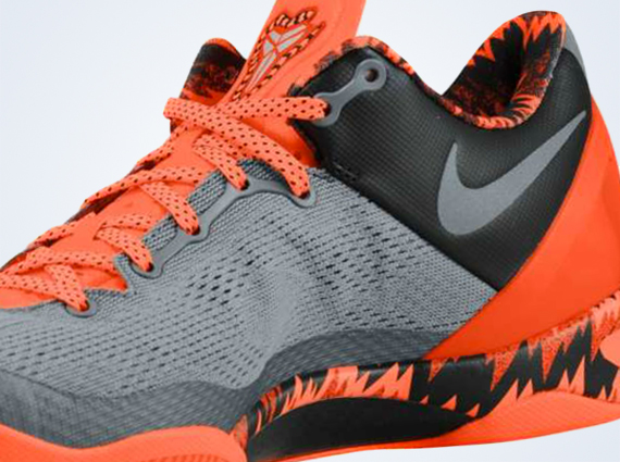Nike Kobe 8 PP Cool Grey Metallic Silver Team Orange Now Available