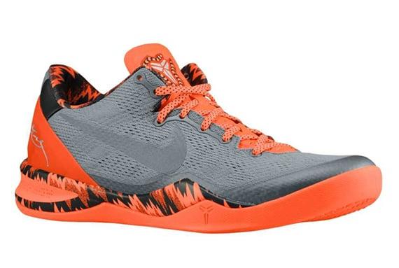 Nike Kobe 8 PP Cool Grey Metallic Silver Team Orange Now Available