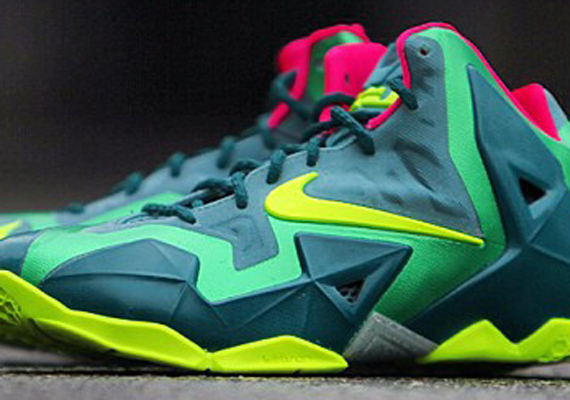 Nike LeBron 11 GS Green Pink Volt Another Look