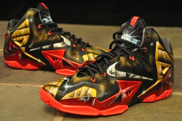 Nike LeBron 11 Mach 6 Ironman Customs by Dez Customz