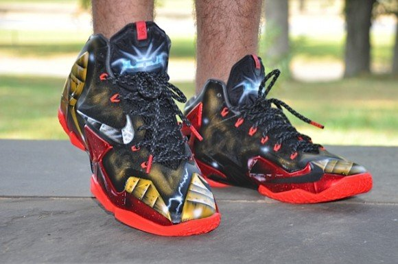 Nike LeBron 11 Mark 6 Ironman Customs On-Feet Images