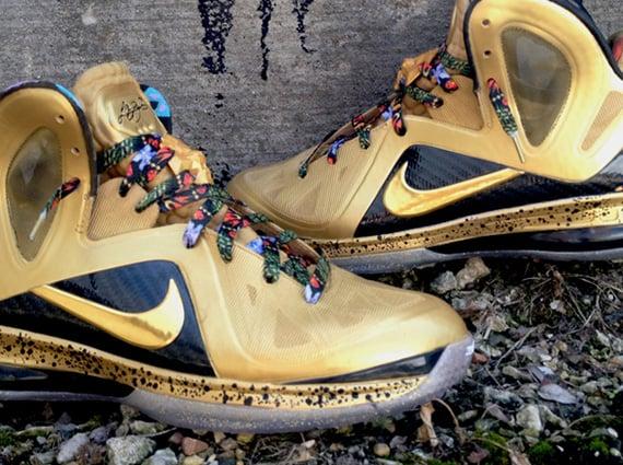 "a934d89c9f4 Nike LeBron 9 Elite ""Un-Watch The Throne"" by DeJesus Customs ..."