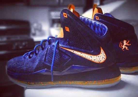 Nike LeBron X EXT Hardwood Classic by Mache Customs