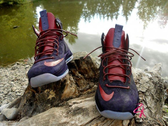 Nike LeBron X EXT Plum Customs by Zadeh Kicks