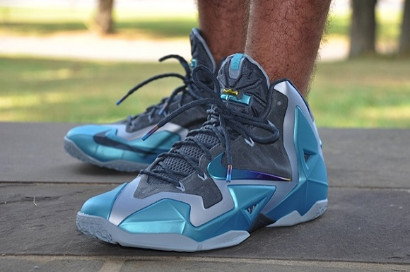 "Nike LeBron XI (11) ""Gamma Blue"" : On-Feet Images ..."