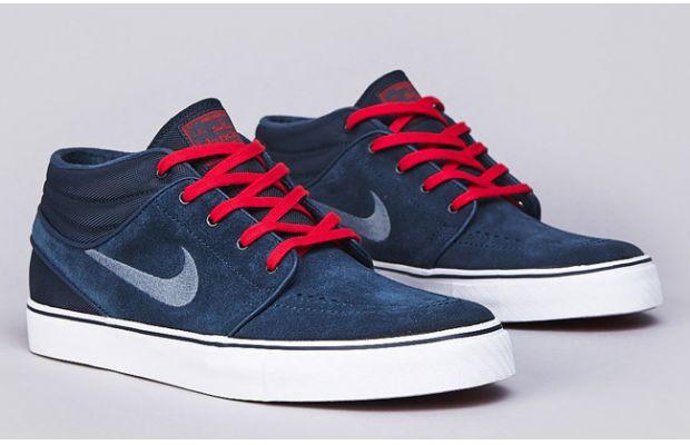 clairance nicekicks vente authentique Nike Stefan Janoski Bleu Rouge Lacé visite de dégagement gWwMG8iRbQ