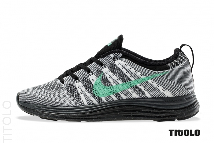 f759d5c0ca2f Nike WMNS Flyknit Lunar1+  White Green Glow-Dark Grey-Black ...