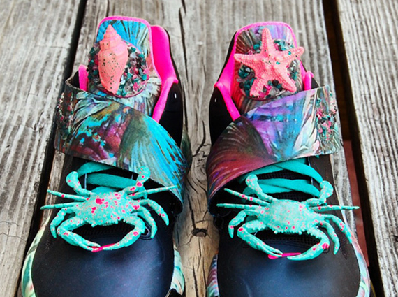 Nike Zoom KD IV Summer Sunset Customs by Gourmet Kickz