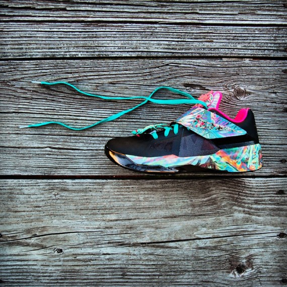 nike zoom kd iv summer sunset customs by gourmet kickz 318961572