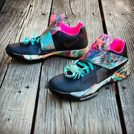 Nike Zoom KD IV Summer Sunset Customs by Gourmet Kickz