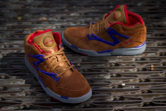 Reebok Pump Omni Lite Brown Red Purple Now Available