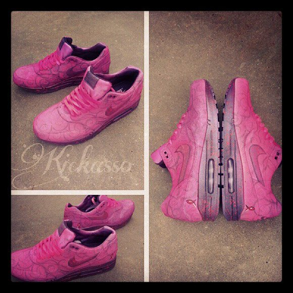"""cheap for discount fdcb7 e2109 Kickasso is Auctioning Nike Air Max 1 """"Breast Cancer Awareness"""" on eBay"""