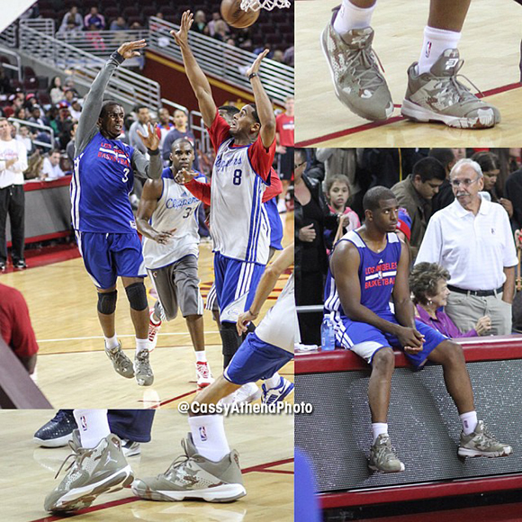 Chris Paul Rocks Cp3vii Camo During Clippers Scrimmage Sneakerfiles