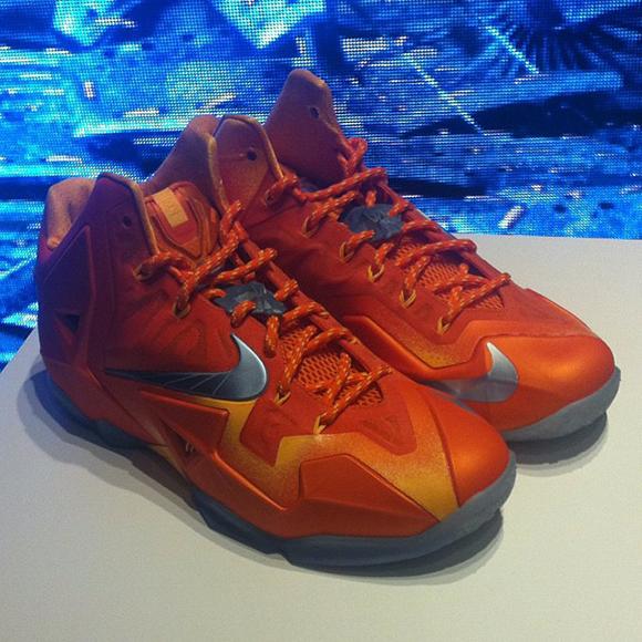 LBJ XI Orange