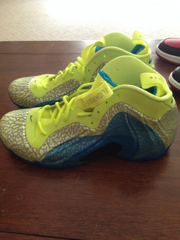 Nike Flightposite Neon Green - Blue - Grey - Another Look  a64e055e8