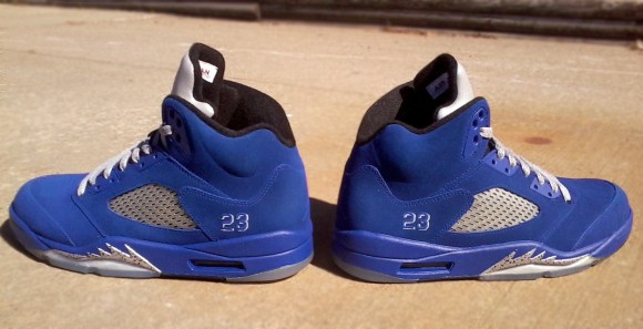 Air Jordan V Stealth Royal Metallic by Mr Exclusive Customs