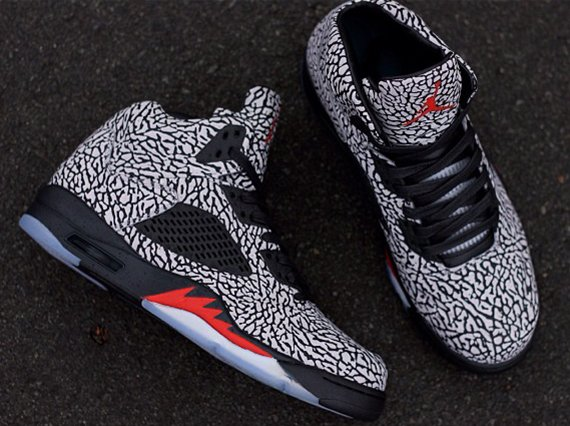 Air Jordan 5 3Lab5 Fire Red Customs by PK ZUNIGA