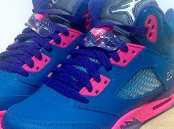 Air Jordan 5 GS Teal Pink Another Look