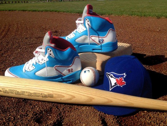 Air Jordan 5 Toronto Blue Jays by DeJesus Customs