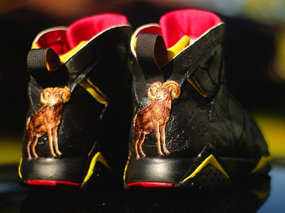 Air Jordan 7 Crude Brood Customs by Rocket Boy Nift