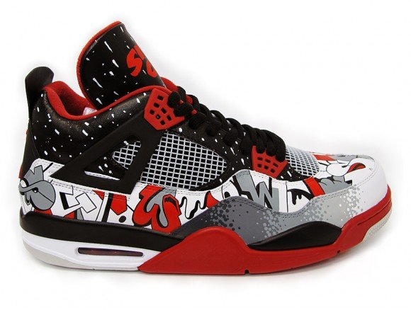 Air Jordan IV Sinner City Customs by Sekure D