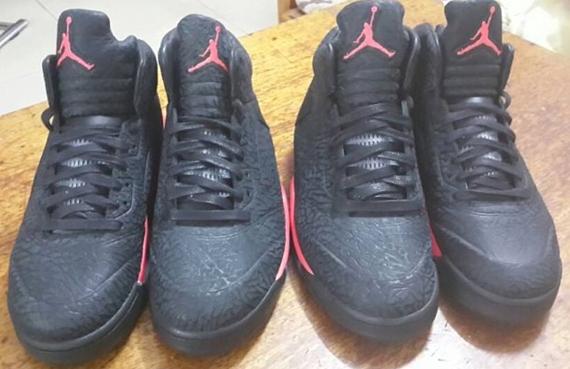 outlet Air Jordan V 5 3Lab5 Black Red  477fbdf99