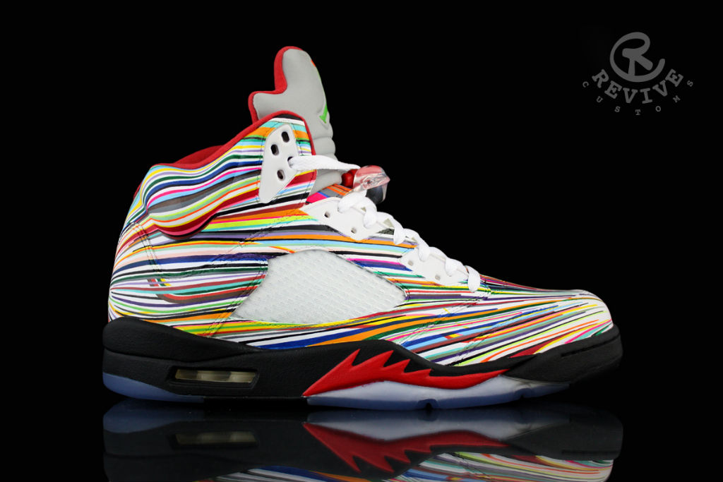 20ea5de9bf7358 Air Jordan V (5)  Rocket Science  Custom for Flo-Rida