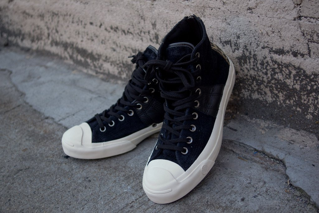 0875d7504994 INVINCIBLE x Converse First String Jack Purcell Johnny  Black ...