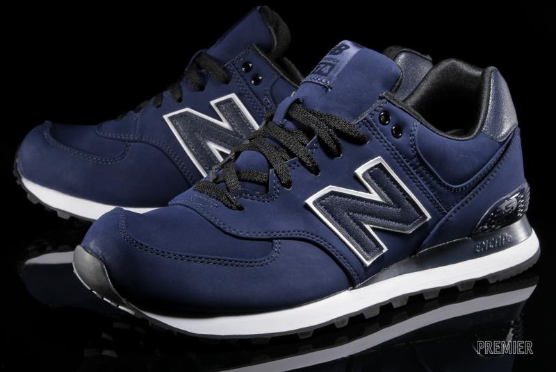 574 new balance leather blue