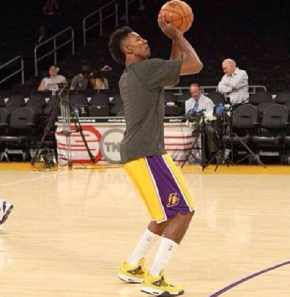 Nick Young Hooping in the Lightning Air Jordan 4