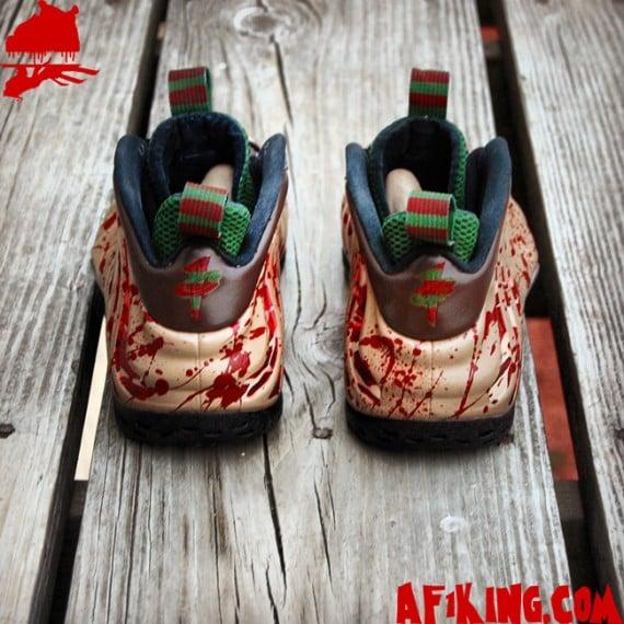 Nike Air Foamposite One Freddy Krueger Customs by Gourmet Kickz