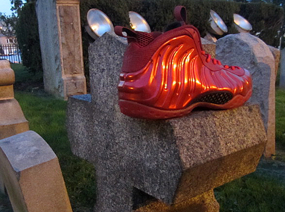 Nike Air Foamposite One Red Devil Customs by FETTi D'Biasi