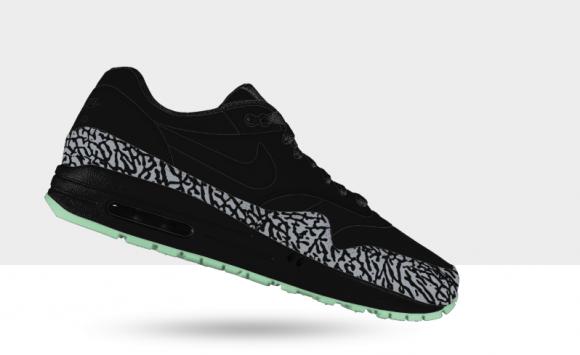 Nike Air Max 1 iD 'Glow in the Dark' Elephant Print Option | Now ...