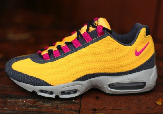 mens nike air max 95 pink yellow