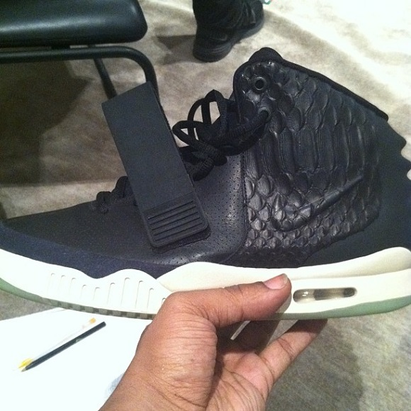 Nike Air Yeezy 2 Black Leather Sample First Yeezy 2 Ever