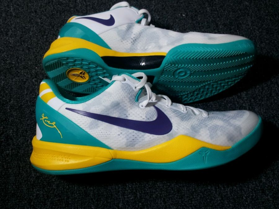 Nike Kobe VIII (8) System  Summit White Teal-Yellow-Purple ... d1682875aeb7