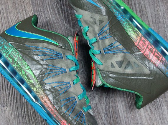 new arrival 06575 13428 Nike LeBron 10 Low Reptile Release Date