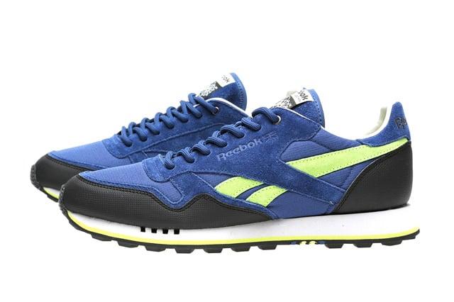 Reebok Classic Leather Trail  Blue Black-Yellow   17baf61701f5